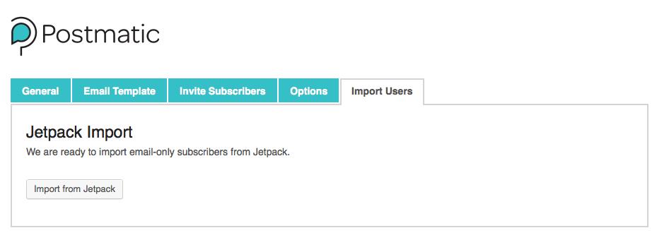 Postmatic Jetpack list importer