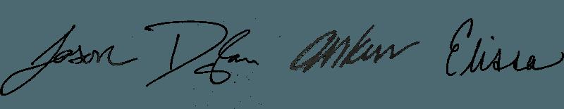 Postmatic team member signatures