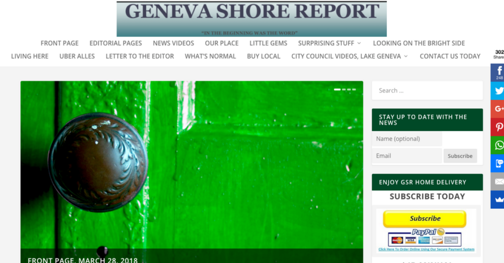 The Geneva Shore Report uses Postmatic among their tools to gain subscribers and distribute content, successfully.